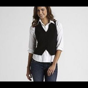 Express Menswear Style Vest with Lace Detailing